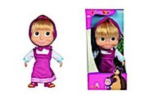 Simba Toys Masha Weichkörperpuppe aus TV Serie Mascha and The Bär 23cm