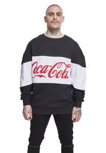 Merchcode Pullover Coca Cola Stripe Oversize Crewneck Black-L