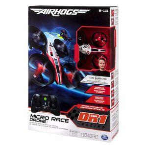 SpinMaster Micro Race Drone Air Hogs DR1 , Quadrocopter, Elektromotor, 4 Kanäle, Farbe: Schwarz/Rot