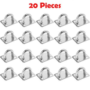 20 Stück M5 Wandhaken Ösenplatte