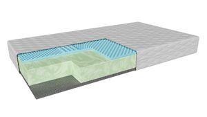 Schaumstfofmatratze Barletta (200x200cm) H3 mittelhart, Matratze mit BIO-Schaum und Latex-Gel im Abnehmbare Abdeckung