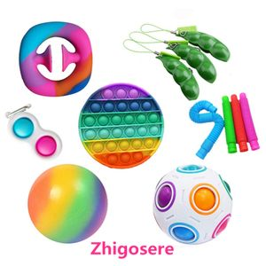 12 Stück / Set POP IT! Push Bubble Fidget Antistress Toys Erwachsene Kinder Pop Fidget Sensory Toy