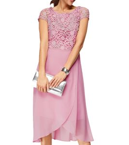 select by Hermann Lange Spitzen-Kleid elegantes Damen Midi-Kleid Rosé, Größe:38