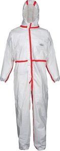 Schutzoverall CoverStar Plus® Gr.XXL (62/64) weiß/rot, Kat.III