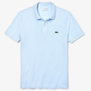 Lacoste Polo Shirt Slim Fit Herren Blau, Größe:L