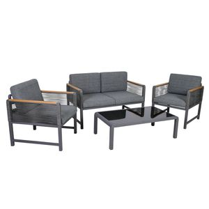 Lounge-Set Nevi, Alu, dunkelgrau