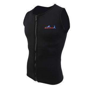 Neopren Wetsuit Vest - 2mm Männer Herren Neopren Weste, Wassersport warm Neoprenweste Größe XXL