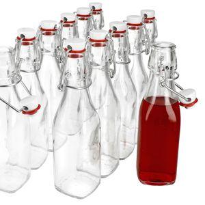 12er Set Glasflaschen Serie Swing mit Bügelverschluss 0,25 Liter