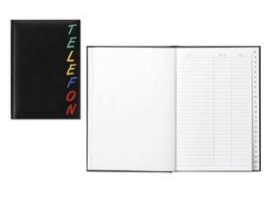 """Herlitz Adressbuch """"Rainbow"""" / Größe: 15 x 21cm / Farbe: schwarz"""