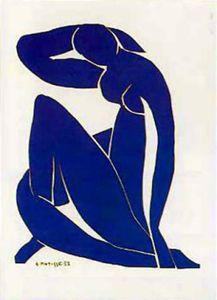 Henri Matisse Poster Kunstdruck - Blauer Akt III (80 x 60 cm)