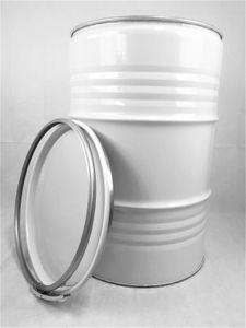 Metallfass 210 Liter Blechfass Fass Ölfass Tonne mit Deckel Weiß