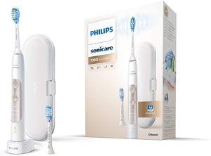 Philips Sonicare ExpertClean 7300 Elektrische Zahnbrste HX9601/03, mit Schalltechnologie, Andruckkontrolle, Reiseetui, wei
