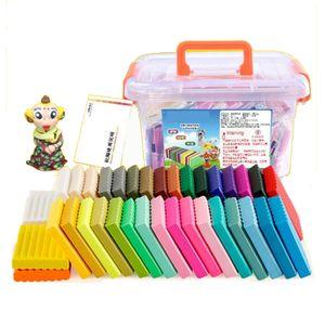 Modelliermasse 36 Farben Leichtes farbiges Polymer Clay Starter Kit DIY Modellieren von magischem Ton mit Werkzeugen und Handbüchern, Aufbewahrungsboxen Mehrfarbig Polymer-Ton Handgemachtes DIY Handwerk