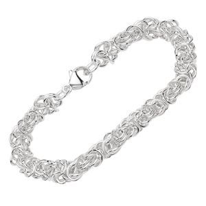 Armband 925 Sterling Silber 19cm Königskette Uni Armbandkette massiv Armkette