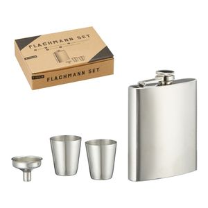 Edles Flachmann Set, 4tlg., ca. 18ml