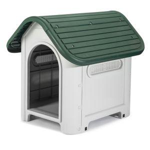Hundehütte Hundehaus Hundehöhle ohne Dachluke wetterfest Kunststoff 660x590x750mm Wetterfest