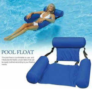 Miixia Pool Sessel Aufblasbar Schwimmsitz Poolsitz Wassersessel Wasser Luftmatratze