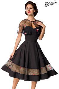 Vintage-Kleid mit Cape, Farbe: Schwarz, Größe: L
