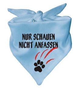 Hunde Dreiecks Halstuch (Fb: hellbau) Nur schauen nicht anfassen