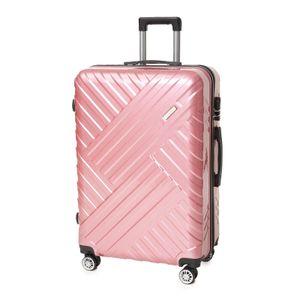 Zellerfeld Trendmax Koffer Set Reisekoffer Trolley Kofferset Boardcase Handgepäck XL Rosa