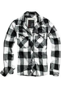 Brandit Hemd CHECKED SHIRT BD4002 Black/Charcoal, Größe:4XL