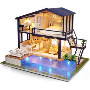 DIY 3D LED Mini Puppenhaus mit Möbel Kit Loft Apartments Puppenhaus Spielzeug