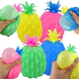Quetschball Squeezeball Ananas Pineapple Bunt Glibber Ball Antistress Knetball
