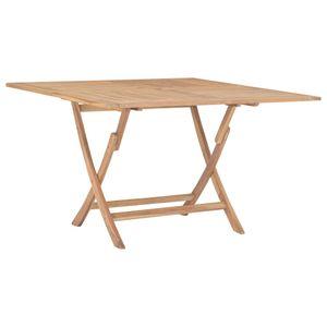 Klappbarer Gartentisch 120x120x75 cm Teak Massivholz