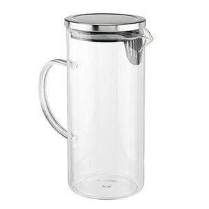 Glaskrug 1,3L  Kühlschrankkrug  mit Deckel