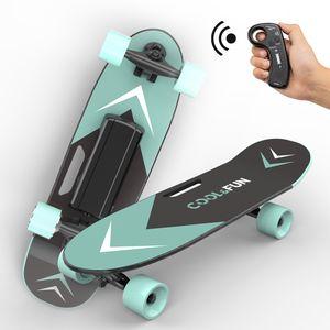 Elektrisches Skateboard mit Fernbedienung und Motor-Reichweite Ca 8 km, Motor 150W, Longboard E Skateboard Elektrisches Elektrolongboard green