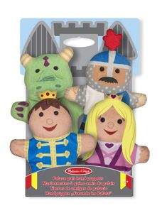 Melissa & Doug Handpuppen Palast Kumpel 4 Puppen