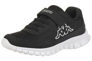 Kappa Unisex-Kinder Sneaker Follow K schwarz/weiss, Schuhgröße:31 EU