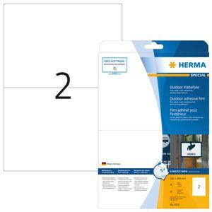 Etiketten A4 Outdoor Klebefolie weiß 210x148 mm Folie matt 20 St.