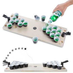 Beer Pong Spieltisch aus Holz - Original Bier Pong Tisch Shot Version Trinkspiel