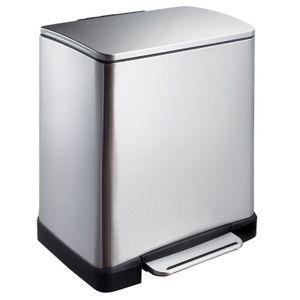 EKO E-Cubetret-Abfalltrenner 10+9 Liter Edelstahl matt silber