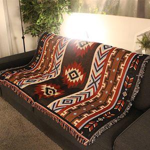 Aztekische Navajo 130x160cm Handtuch Mat Wandbehang Baumwolle Wurfwolldecke Geom