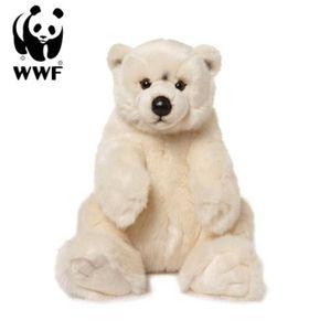 Plüschtier Eisbär (sitzend, 32cm) lebensecht Kuscheltier Stofftier Bär