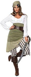 Smiffy's - Piratinnenkostüm - M - Piratenkostüm Freibeuter Karibik Kostüm Pirat Piratin