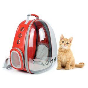 Haustier Reise Rucksack, Katzentransportrucksack,Faltbarer tragbarer Haustier-Rucksack für Hunde und Katzen,rot
