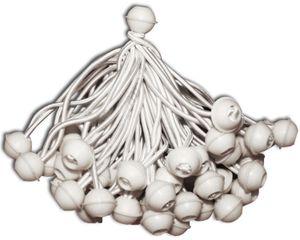 KMH® 50 Zeltgummis Expanderschlingen mit Kugel weiss