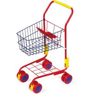 Small Foot 4035 Einkaufswagen in rot, für Kaufladen, rot (1 Stück)