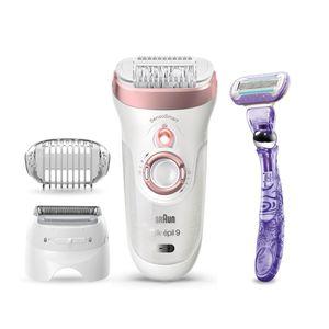 Braun Silk-épil 9 9-870 Epilierer für Frauen für eine langanhaltende Haarentfernung, weiß/roségold