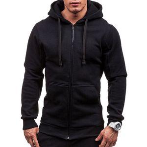 Herren Herbst Und Winter Pullover Kapuzenjacke Tops Casual Tops Jacken Sweatshirts,Farbe: Schwarz,Größe:XL