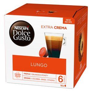 Nescafé Dolce Gusto Lungo, Kapseln, Kaffeekapsel, Café, Coffee, Kaffee, 16 Kapseln