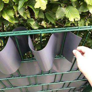 PVC Sichtschutzstreifen 35m Rolle Anthrazit | UV-beständig & reflexionsarm inkl. Befestigungsclips Gartensichtschutz