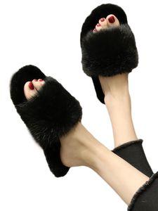 Damen Plüsch Hausschuhe Flauschige Sandalen Innen draussen Schuhe Zehen öffnen,Farbe: Grau,Größe:40