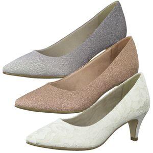 Tamaris 1-22415-24 Damen Schuhe Pumps Glamourös, Größe:40 EU, Farbe:Silber
