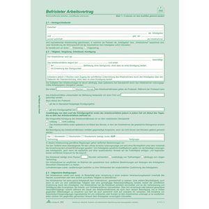 RNK RNK Befr.Arbeitsvertrag SD, 2x2 Blatt, DIN A4 mit Hinweisen /512, DIN A4, Inh.10