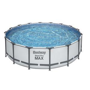 Bestway Steel Pro Max™ Frame Pool Komplett-Set, rund, 488x122cm, 5612Z
