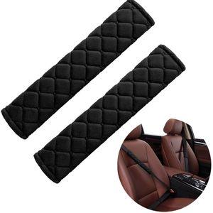 2 Stück Gurtpolster Auto Schwarzer Gurtschoner Weich Sicherheitsgurt Schutz Premium Polsterung für Sitzgurt im Auto Reise